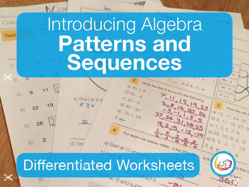 Algebra Patterns and Sequences | Worksheets