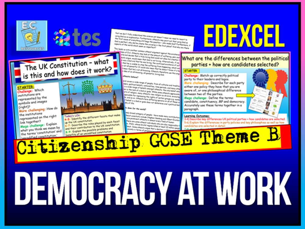 Edexcel Citizenship - Democracy Theme B