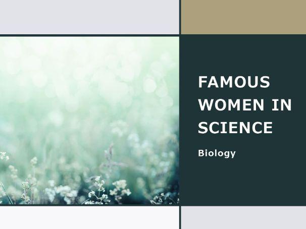 Women in biology