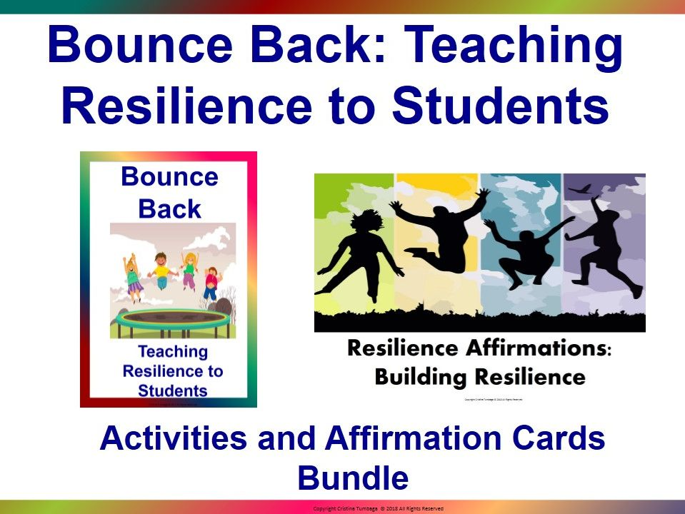 Bounce Back: Resilience Activities and Affirmation Cards Bundle