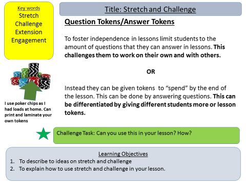 T&L: Stretch and Challenge Ideas