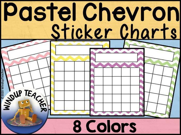 Chevron Sticker Charts - Pastel