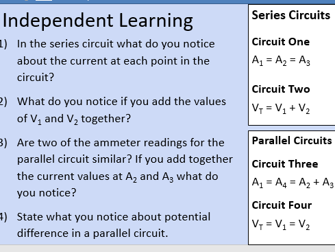 GCSE OCR Physics: Series and Parallel Circuits