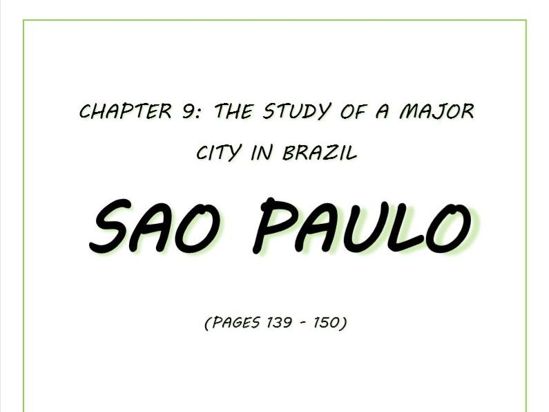 Booklet covering case study of Sao Paulo