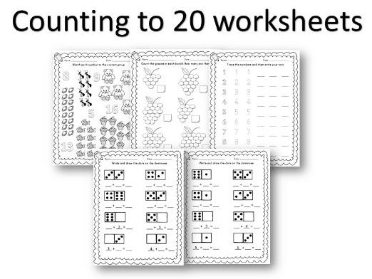 Reception / Year 1 counting to 20 worksheets