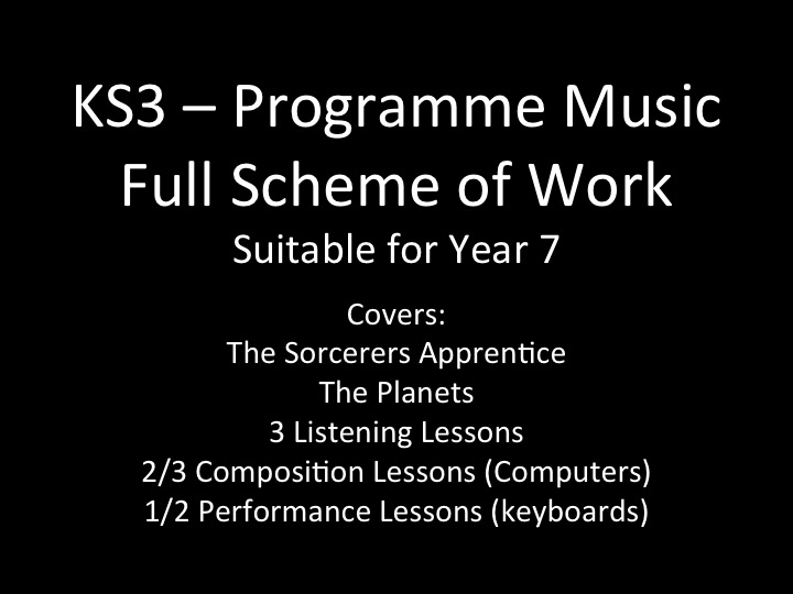 KS3 - Programme Music (yr 7) / full scheme of work - booklets / PP and lesson plans