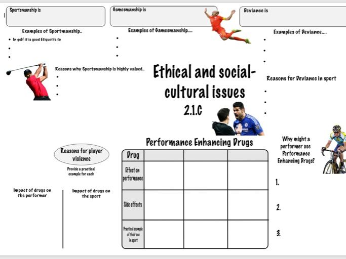Ethical and Social-Cultural Issues GCSE PE (OCR 2.1.c) Revision Sheet