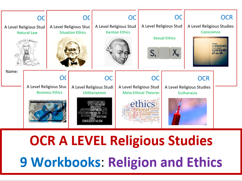 OCR Religious Studies: Religion and Ethics Workbook Bundle
