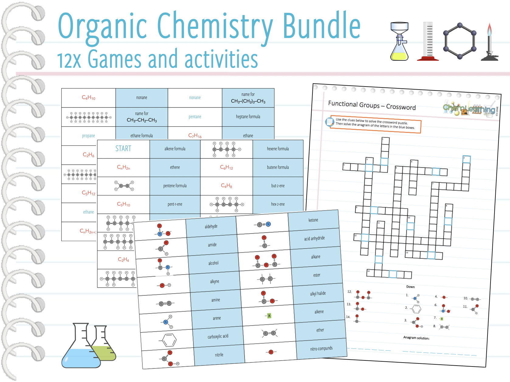 Organic Chemistry - 12x Games and activities (KS5)