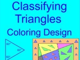 TRIANGLES:  CLASSIFYING TRIANGLES COLORING ACTIVITY
