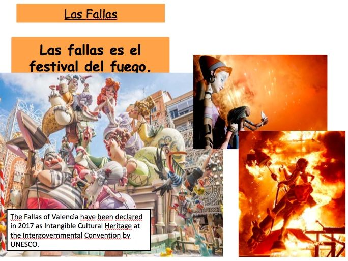 LAS FALLAS de Valencia - Cultural Lesson AS/ALevels or KS4