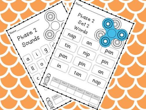 Phase 2 Phonic Fidget Spinner Games