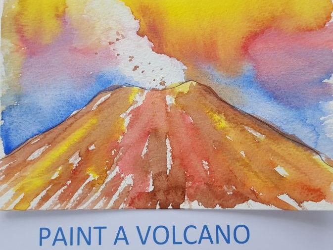 Paint a Volcano