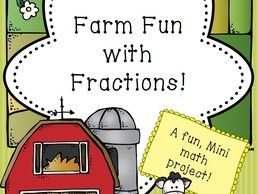 Farm Fun with Fractions- A Math Mini Booklet! Many Fraction skills covered