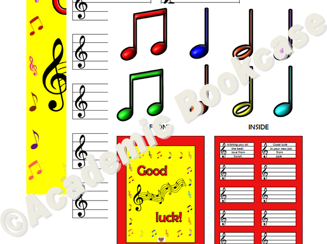 Good luck card - musical notes