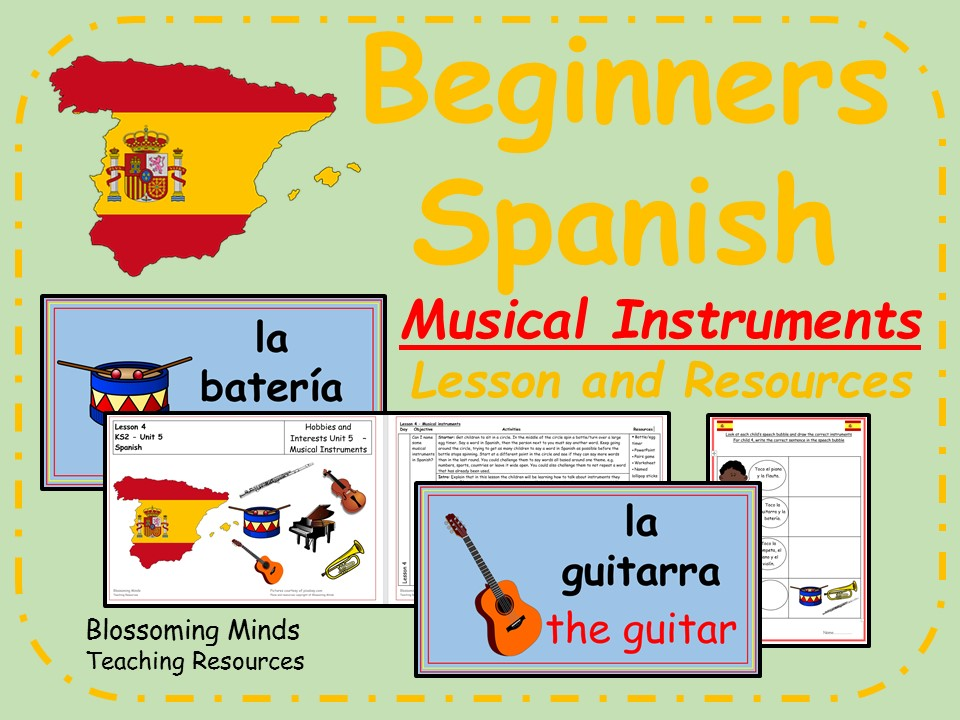 Spanish Lesson and Resources - KS2 - Musical Instruments