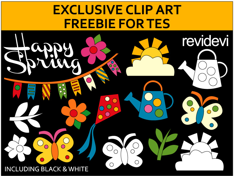 Spring Free Clip Art - Exclusive freebie for TES