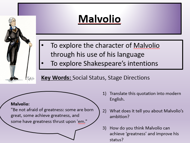 to what extent is malvolio an In this essay i will be exploring twelfth night and focusing on the extent at which folly is used to create humour this is through malvolio being miss-lead.