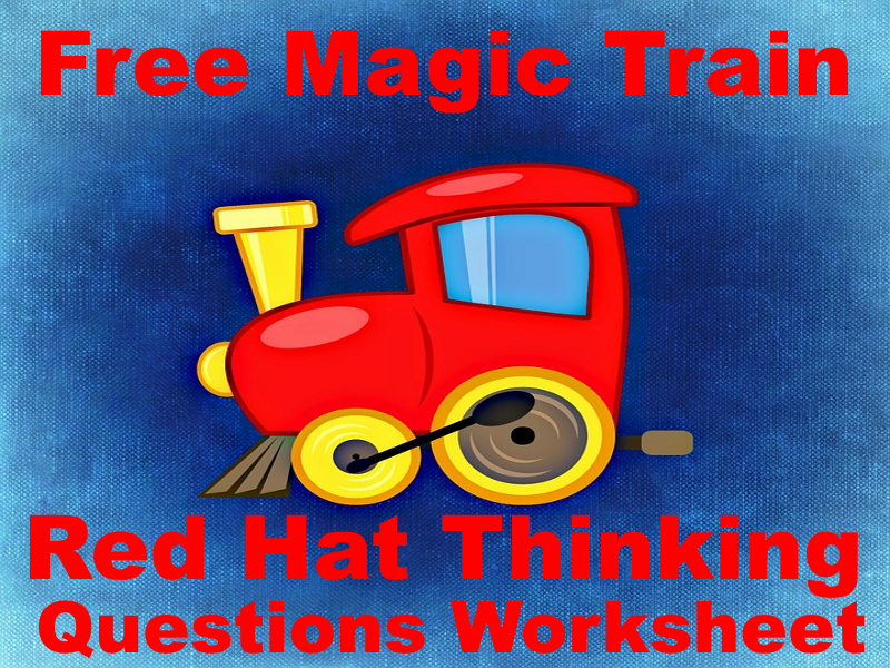 FREE The Magic Train Red Hat Thinking Questions - Helps Put Some Feeling Into Guided Reading