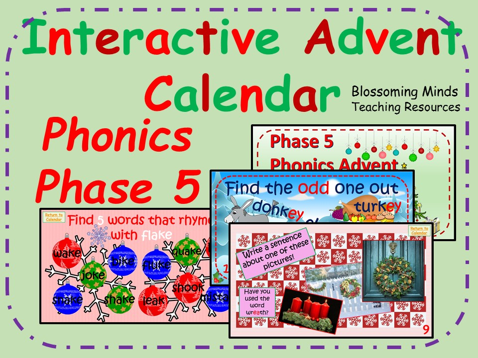Phonics phase 5 - Christmas Advent Calendar