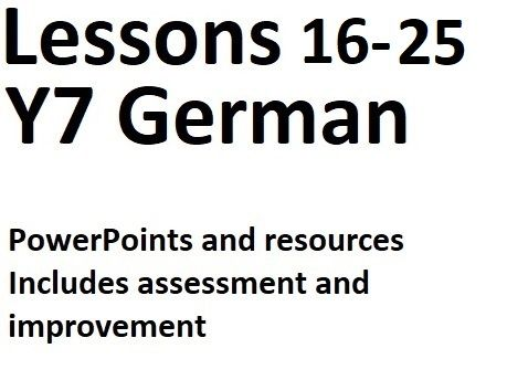 BUNDLE Y7 German Lessons 16 to 25 - Complete Lessons for Basics