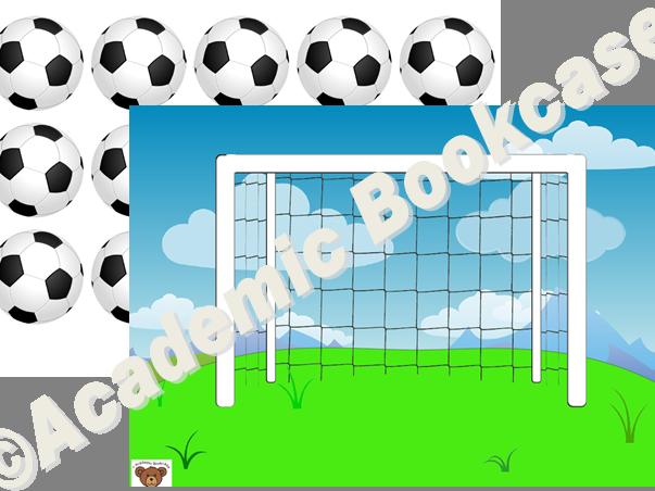Reward counting chart - goal and footballs