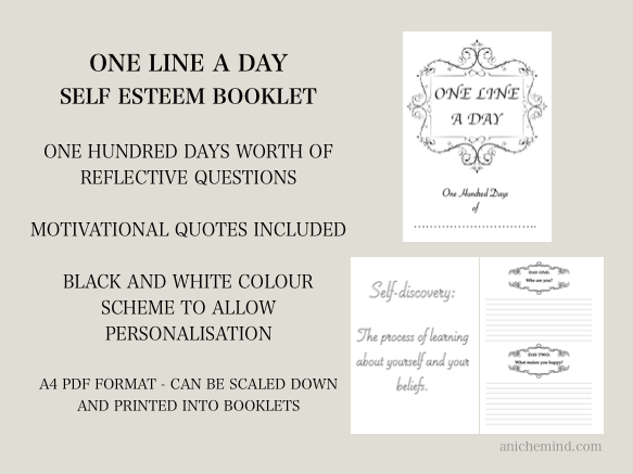 One Line A Day Self Esteem Booklet