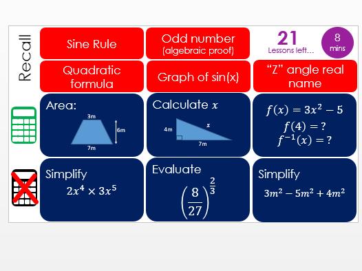 Maths GCSE higher revision starter
