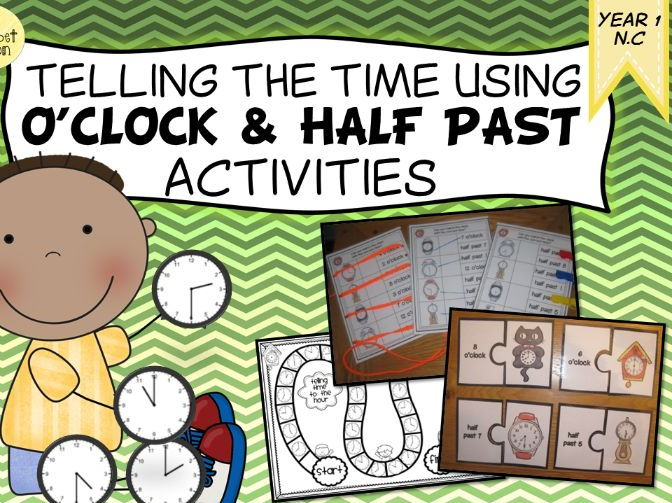 Telling the Time - O'clock and Half Past Activities