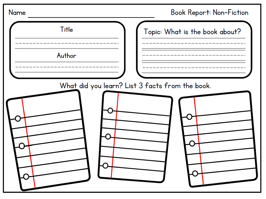 Book Reports for the Primary Classroom.