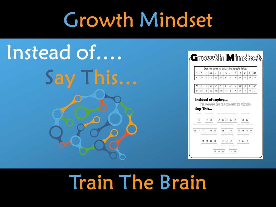 Growth Mindset Train the Brain Challenge Activity