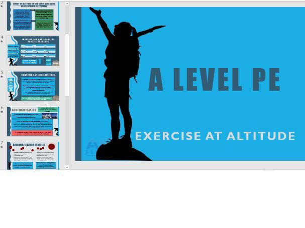 Exercise at Altitude - A Level PE