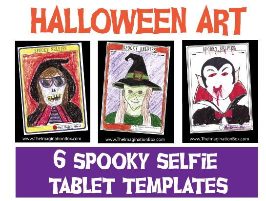 Create Halloween Tablet Style 'Spooky Selfies' art activity pack