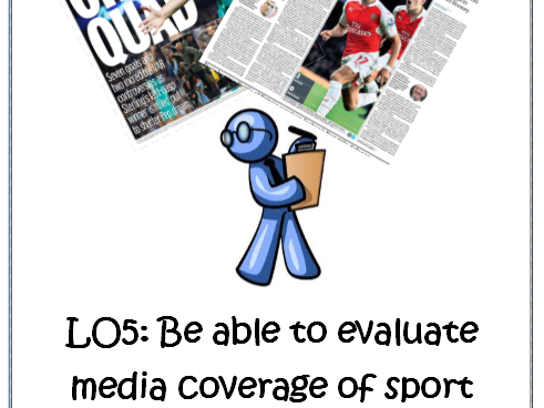 OCR Sports Studies R054 Sport and the Media LO5 Evaluation Worksheet