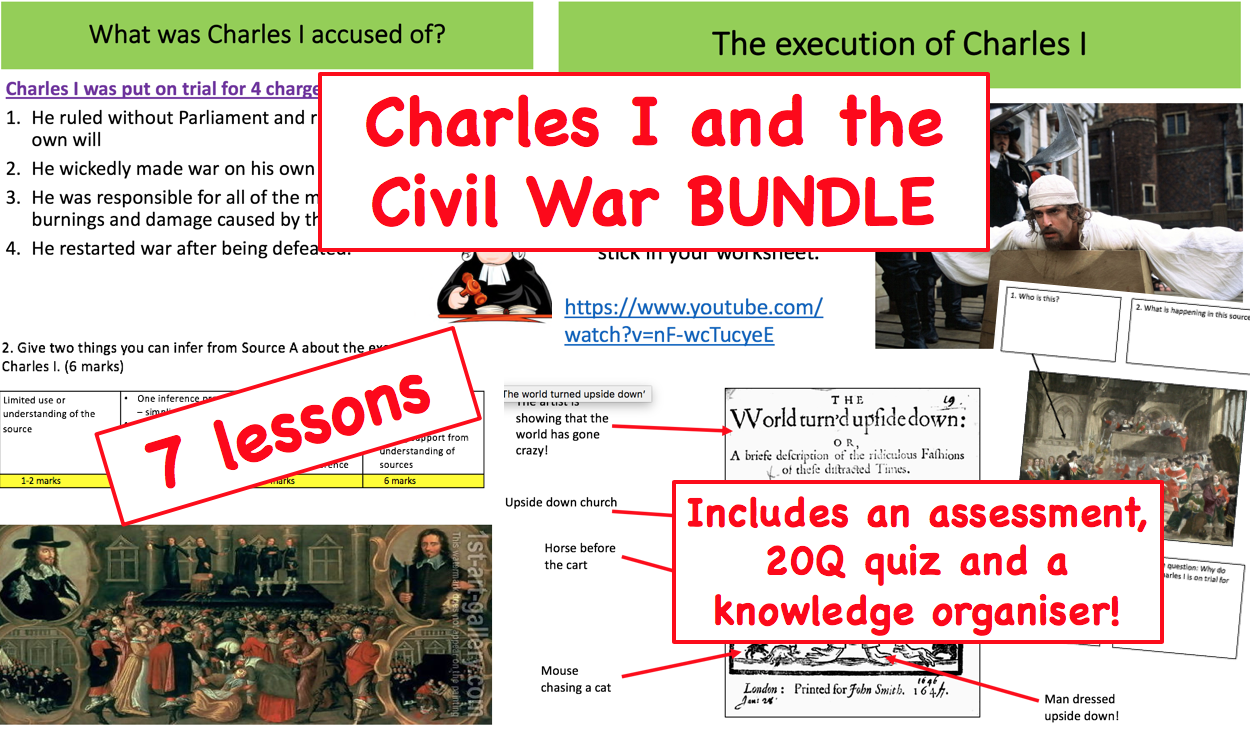 Charles I and the Civil War SOW BUNDLE - 7 LESSONS