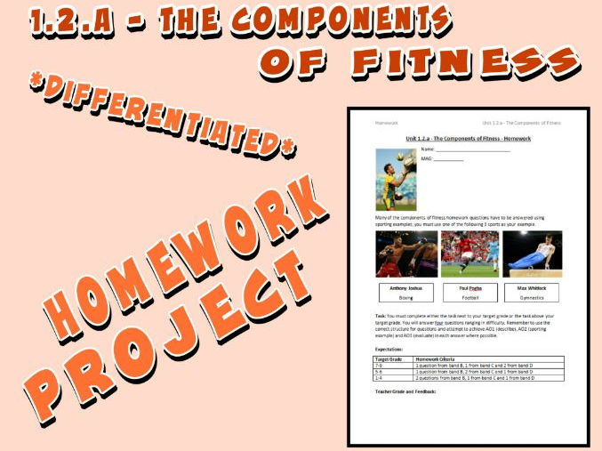 OCR GCSE PE 9-1 (2016) 1.2.a - Homework Project - The Components of Fitness