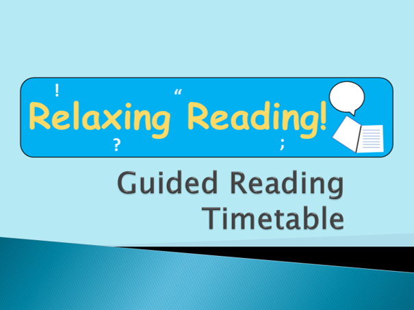 Guided Reading Timetable Primary Earth