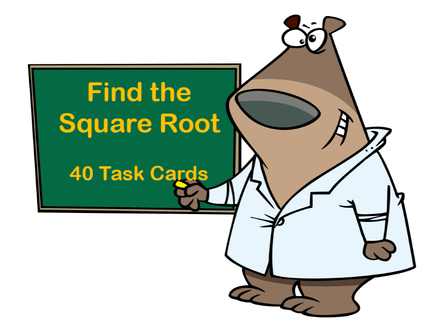 Find the Square Root Task Cards- Grades 7-8