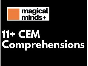 11+ CEM Comprehensions (contains 8)