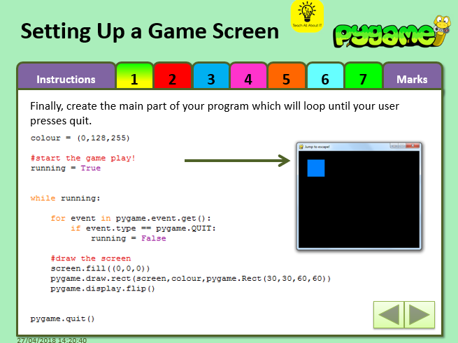 PyGame - Python Game Making Half Term Unit + Example Files