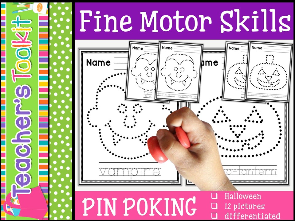 Motor Skills: Pin Poking Halloween