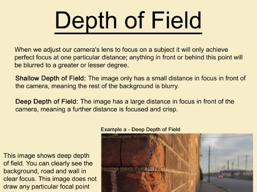 Art & Photography Depth of Field Poster