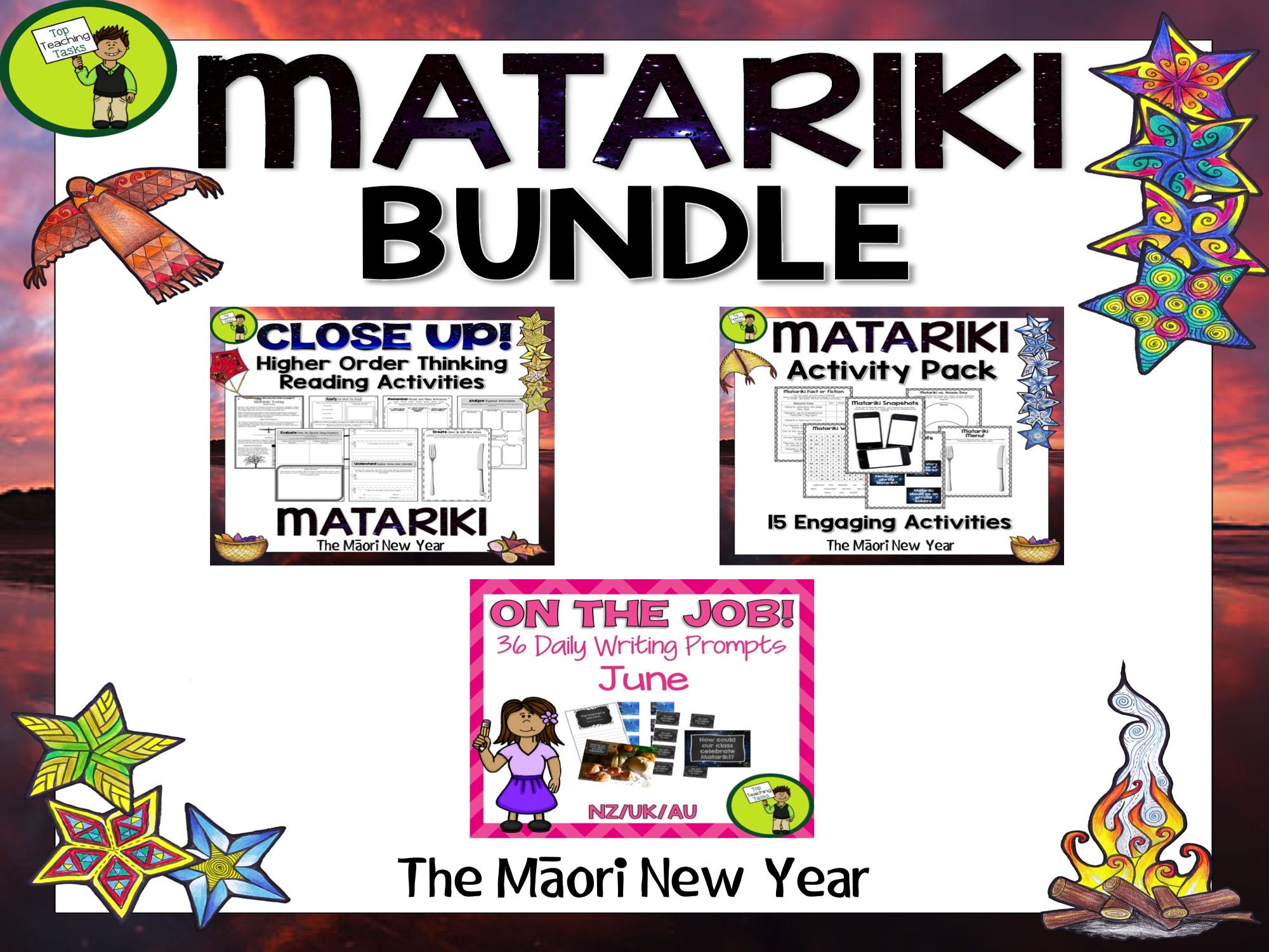 Matariki Bundle - Matariki Literacy Pack - Reading, Writing, Creative Thinking