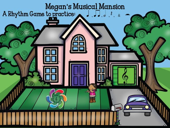 Google Slides Interactive Music Rhythm Game Megan's Musical Mansion