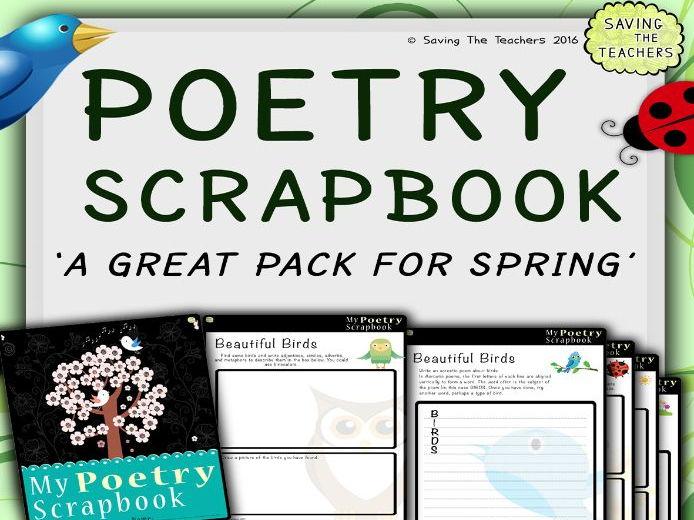 Spring Poetry Scrapbook