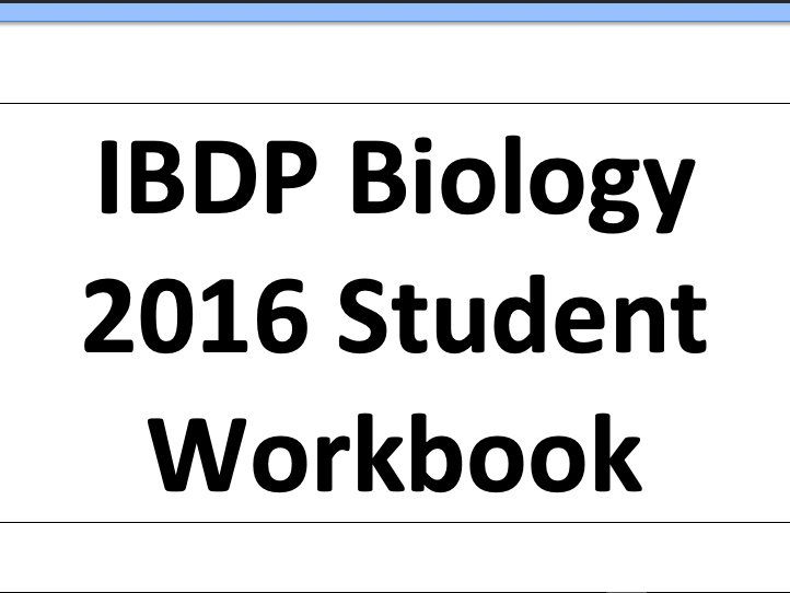 IBDP biology 2016 topic 2.8 cell respiration workbook