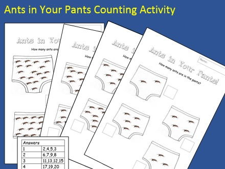 Ants in Your Pants Counting Activity