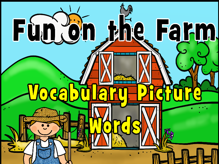 Farm Picture Vocabulary Words