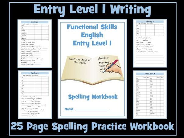 English Functional Skills - Spelling Workbook Entry Level 1