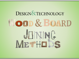 Wood and Board Joining Methods Card Sort